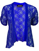 RIDDLED WITH STYLE ™ Plus Size Lace Diamante Detail Cardigan Womens Lace Bolero Shrug Top 14 - 28