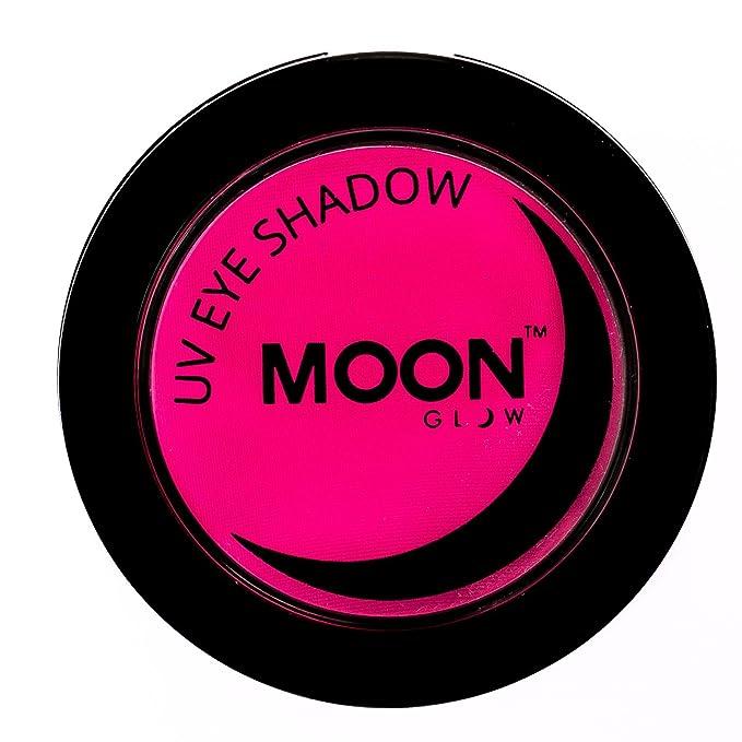 Sombra de ojos uv de color rosa neón fluorescente