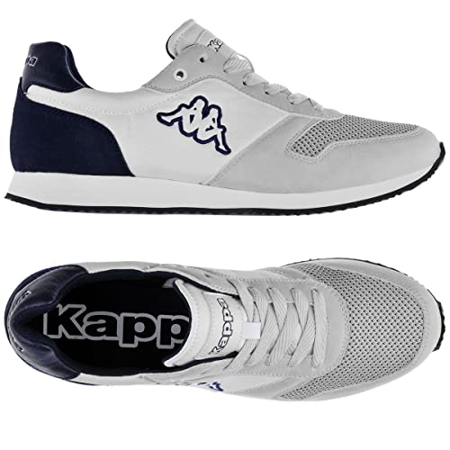 Per Donna Uomo Gistof Kappa White E Logo 937 Blue Sneakers v7w61