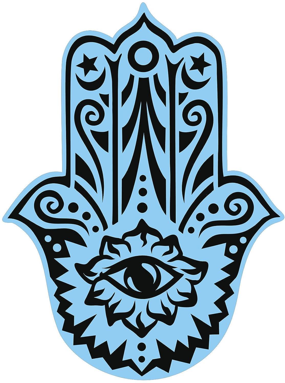 Amazon hamsa hand fatima eye of providence black blue vinyl amazon hamsa hand fatima eye of providence black blue vinyl decal sticker two in one pack 8 inches tall home kitchen biocorpaavc