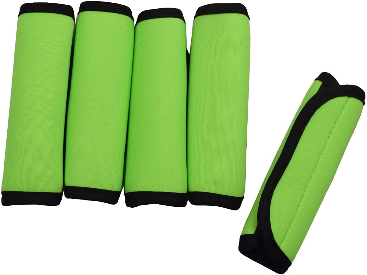 Fluorescent Green haoun 4pcs Luggage Handle Grips Wrap Travel Neoprene Water-resistant Hand Cover for Suitcase Bag