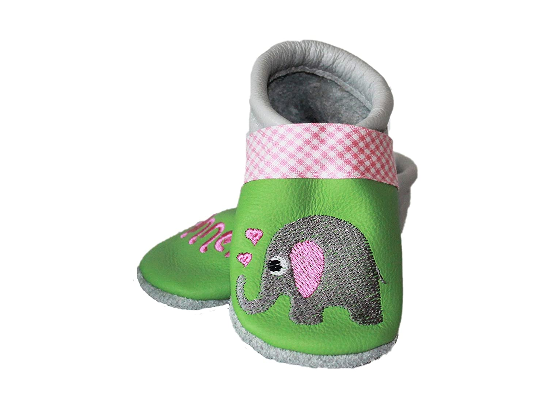 viele Motive M/ädchen Krabbelschuhe Elefant Jessica Pahnke Designs Hergestellt in Deutschland