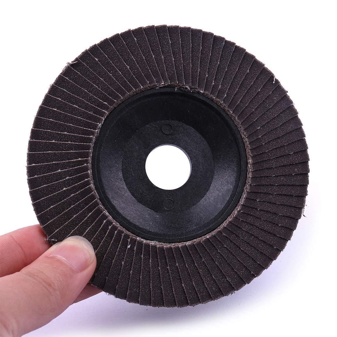 atoplee 10pcs 240/Grit Pulido Lijado Flap disco rueda de corte para amoladora de /ángulo