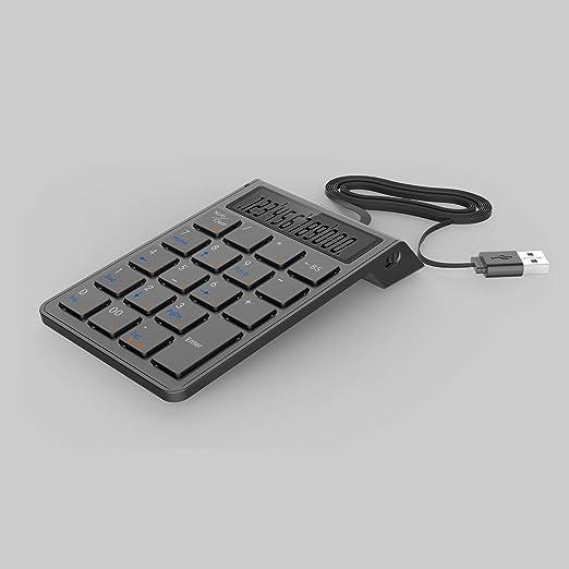 Teclado y calculadora 2 en 1, teclado numérico de alambre ...