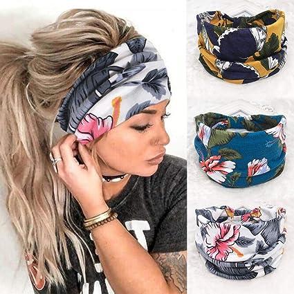 Lot of  6 Women Girls Multi-function Head Scarf Bandana Elastic Headband Wrap