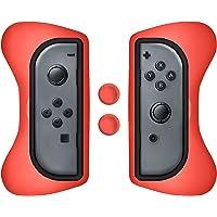 Surge Grip Kit, Joy-Con & Thumb Grips - Red - Nintendo Switch