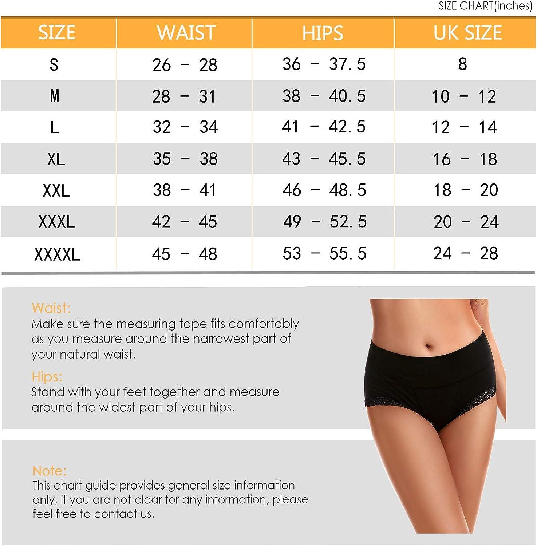 Iesunny Stretch Unterwäsche Für Damen Baumwolle Mittlere Taille Bequem Atmungsaktiv Slip Multipack Gr 4x Large Mehrfarbig Bekleidung