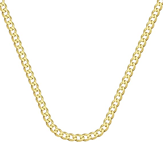 14Kt Gold Curb Chain With Lobster Lock 20 Inches Long Curb Chain