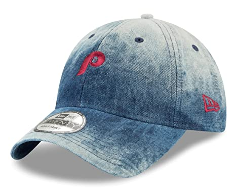 sports shoes f5fdb 3bdb2 Image Unavailable. Image not available for. Color  New Era Philadelphia  Phillies MLB 9Twenty Cooperstown Denim Wash Adjustable Hat