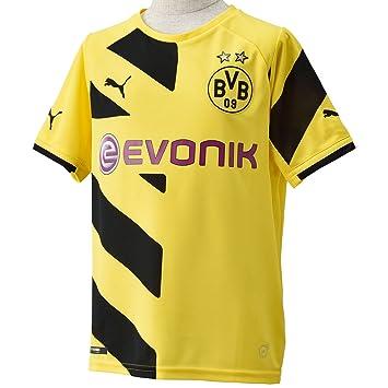 PUMA Kinder Trikot BVB - Camiseta Réplica para Niños, color amarillo, talla 128: Amazon.es: Deportes y aire libre