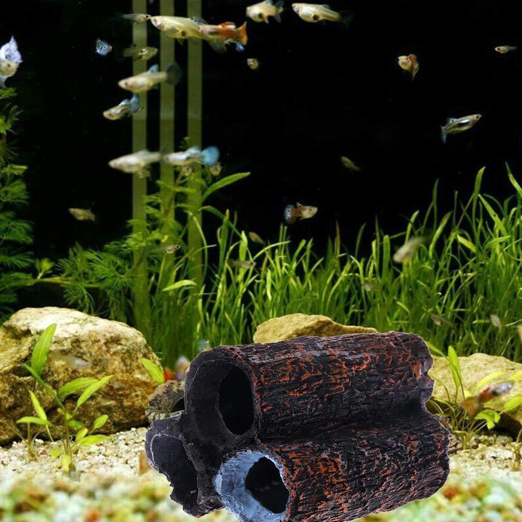 Lifet Aquarium Shrimp 3 Tube Pipes Cave Shelter Resin Breeding Hide House 9cmx6cmx6cm ALS Bilder Gezeigt 3.54inx2.36inx2.36in