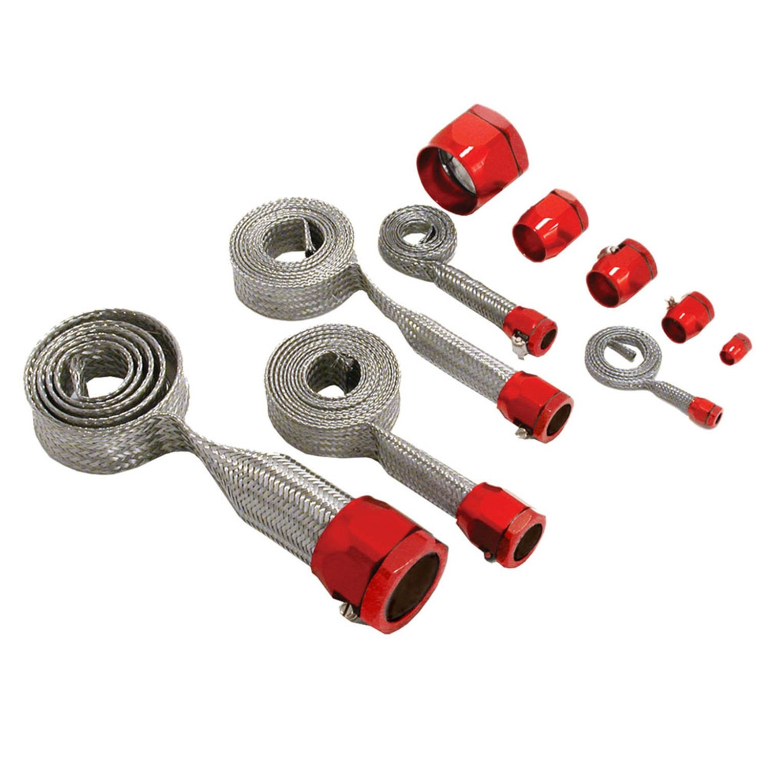 Spectre Performance 7492 Red Stainless Steel Sleeving Kit