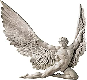 Design Toscano NG33636 Icarus Winged Man Wall Sculpture, 11 Inch, Polyresin, Ancient Ivory