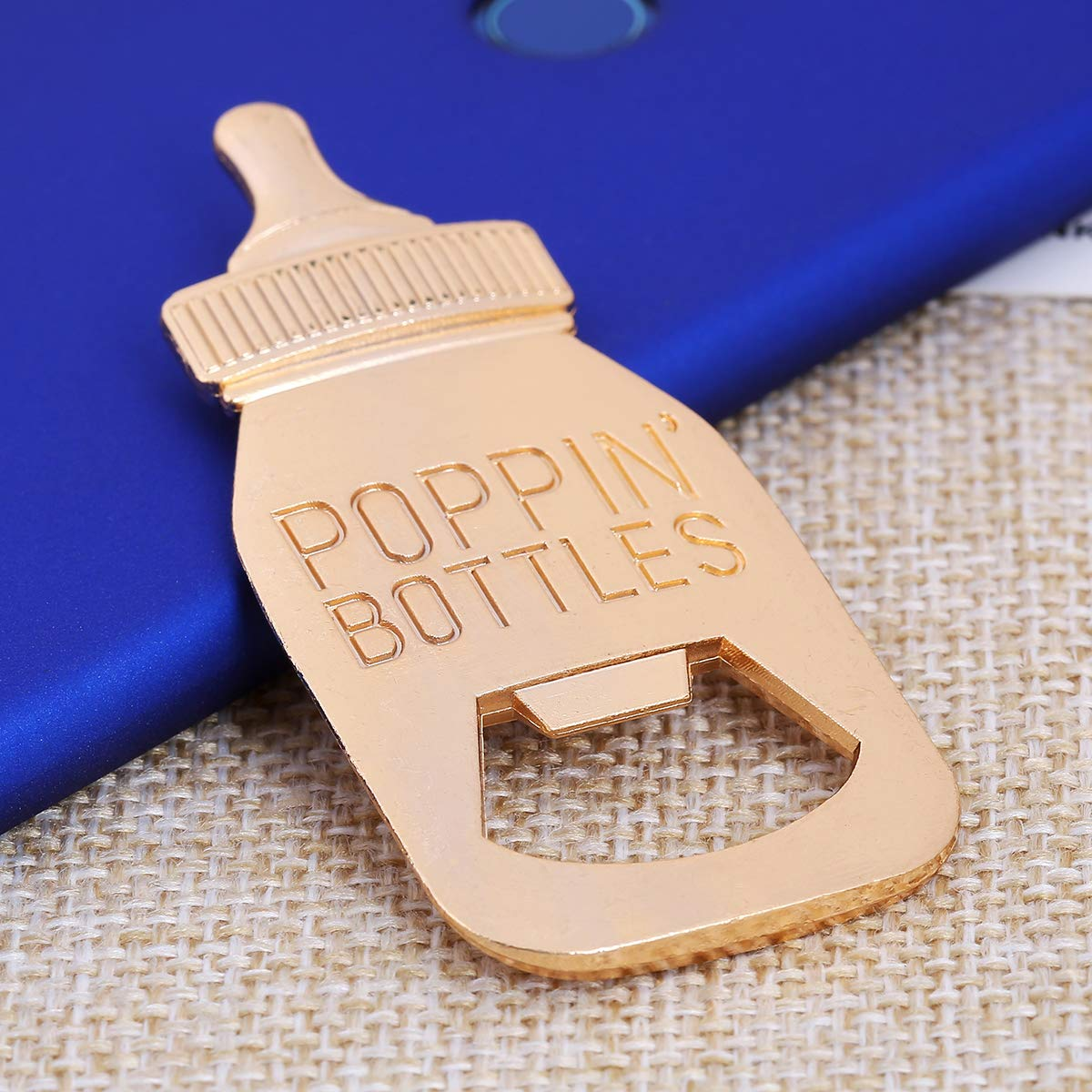 24 pcs Baby Shower Return Gifts for Guest Supplies Poppin Baby Bottle Shaped Bottle Opener Wedding Favor with Exquisite Packaging Party Souvenirs Gift Decorations by WeddParty (Blue 24pcs) by WeddPtyFr (Image #8)