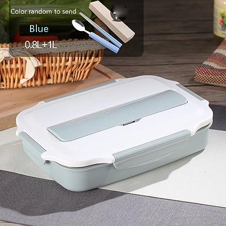 Amazon.com: lishuji conveniente de caja de almuerzo de acero ...