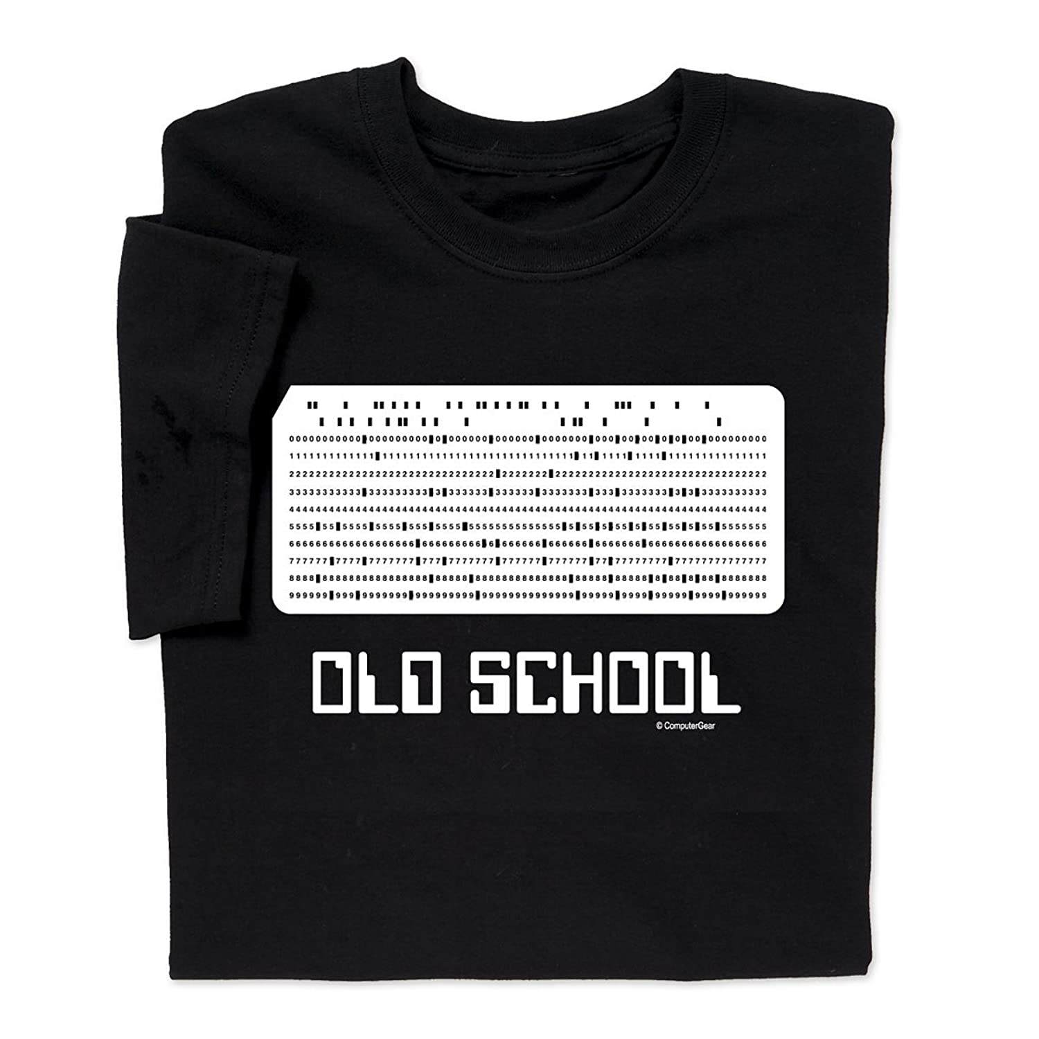 Amazon.com: ComputerGear Funny Old School T Shirt Punchcard Card ...