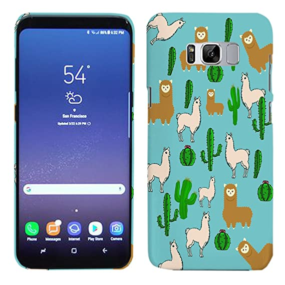 a6af900dc Amazon.com: Galaxy S8 Plus Case - llama and Cactus Pattern Hard ...