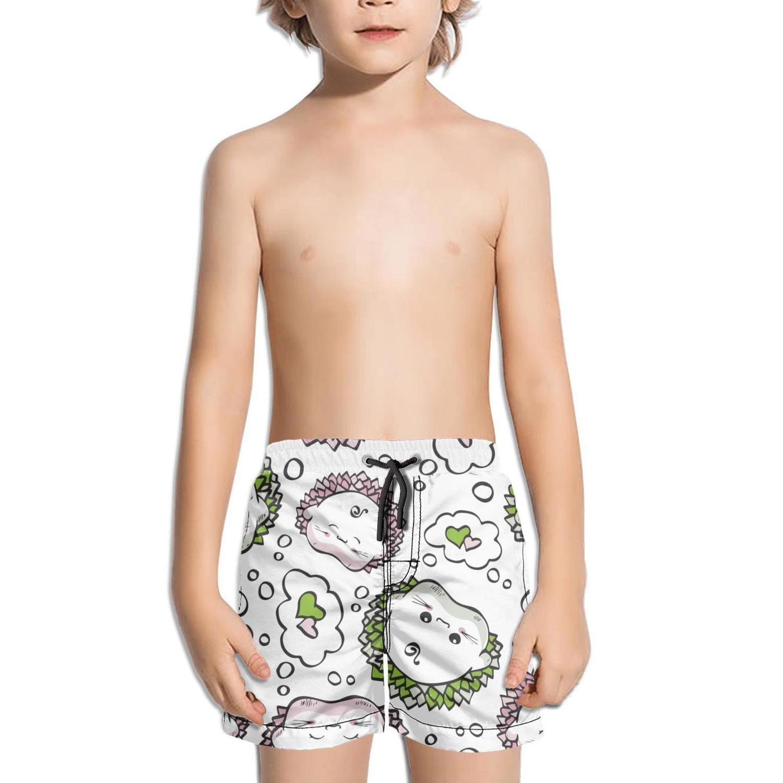 Ouxioaz Boys' Swim Trunk Love Hedgehogs Cartoon Beach Board Shorts