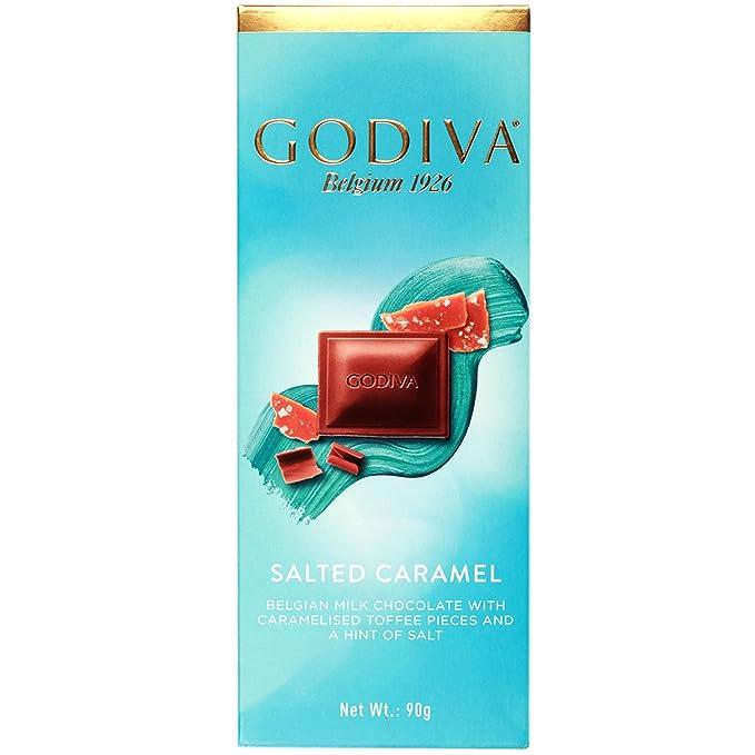 Godiva Salado Caramelo Belga Chocolate de Leche, 90g