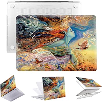MacBook Pro Shell Case Sweet Art Tropical Fruit Dragon Leaf Plastic Hard Shell Compatible Mac Air 11 Pro 13 15 MacBook Pro Screen Protector Protection for MacBook 2016-2019 Version