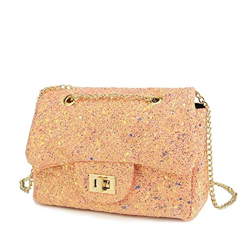 d9863a8b3 CMK Trendy Kids Sequin Little Girls Crossbody Purse for Toddler Kids  Shoulder Bags with Chains (