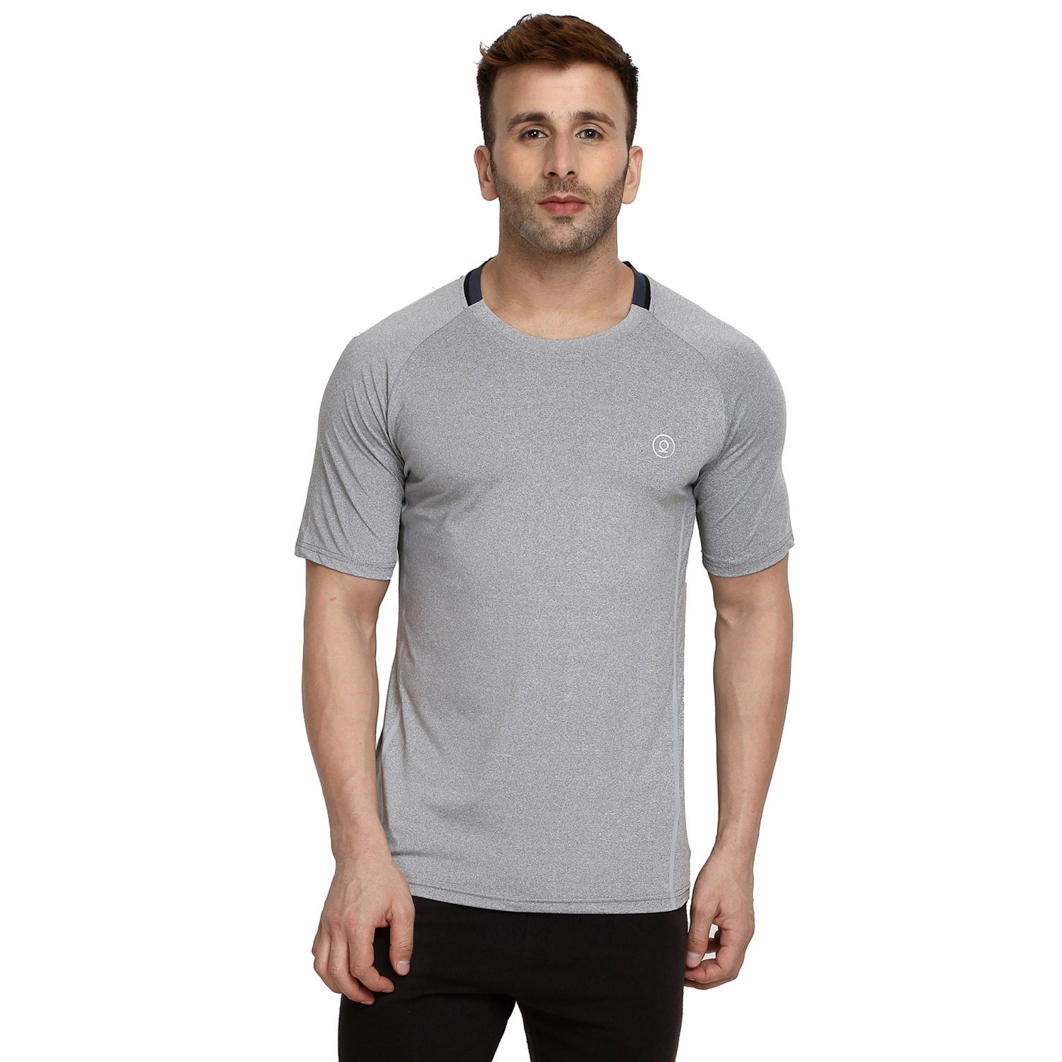 08bee7d69028 CHKOKKO Men's Polyester Round Neck Regular Dry Fit Stretchable Jersey Gym  Sports T-shirt (Light Grey, Medium): Amazon.in: Clothing & Accessories