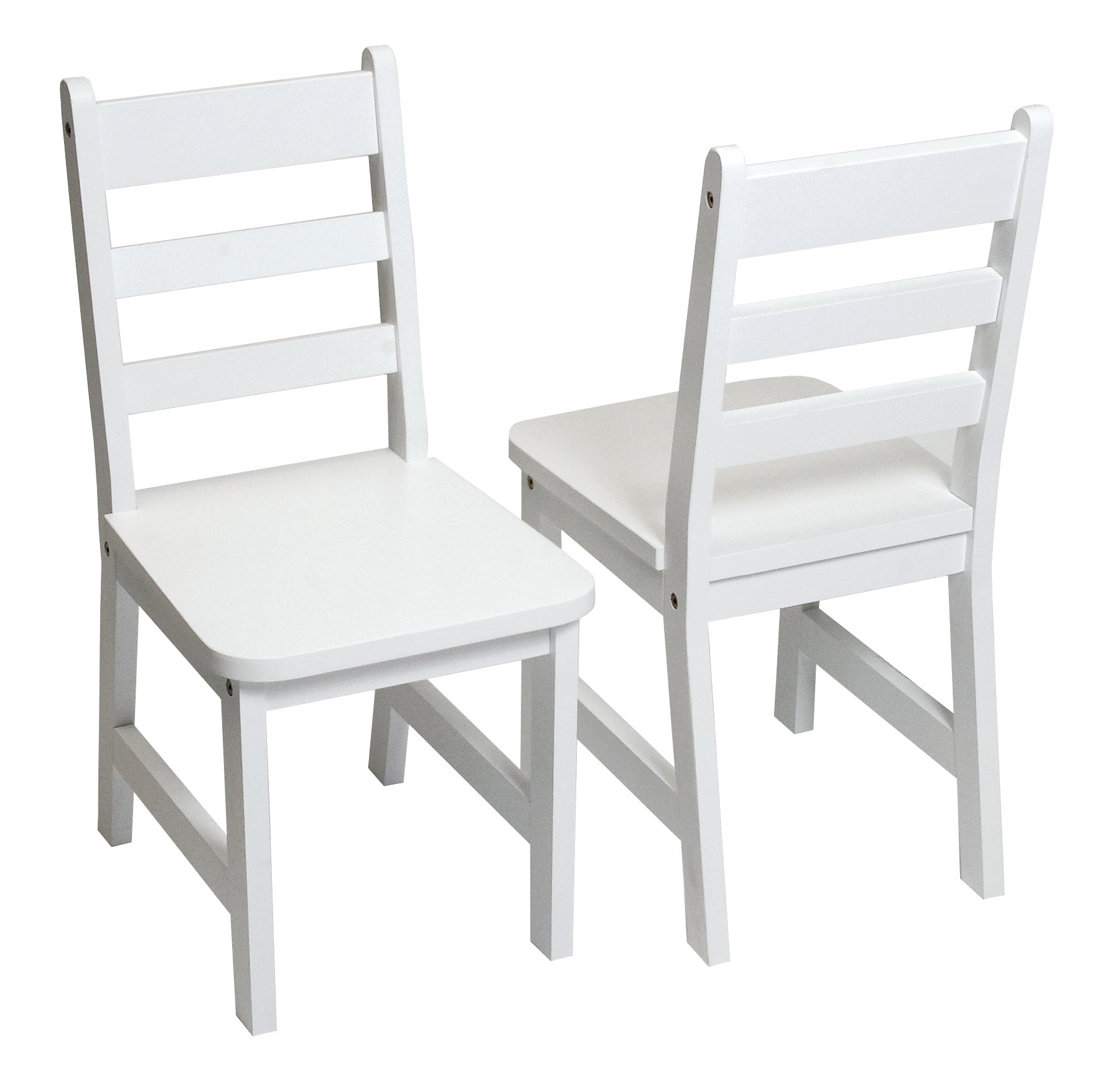Lipper International 523-4W Child's Chairs for Play or Activity, 12.38'' W x 15'' D x 26.63'' H x 25.5'' H, Set of 2, White by Lipper International (Image #1)
