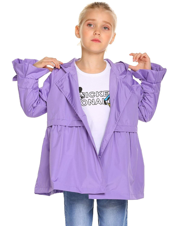 Teaio Toddler Boys Girls Raincoat Hooded Waterproof Jackets Outwear