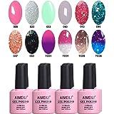 AIMEILI Soak Off UV LED Gel Nail Polish Multicolour/Mix Colour/Combo Colour Set Of 12pcs X 10ml - Kit Set 3