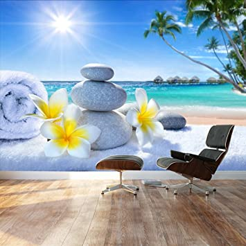 Wall26 Large Wall Mural Spa Treatment Tropical Beach Adhesive Vinyl