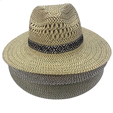 03db75ea88589 Spring Summer Men s Woman Lifeguard Foldable Sun Hat Woven Farmer Cool  Lightweight Straw Hat (3