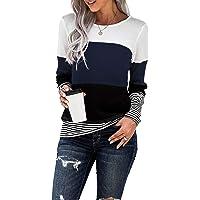 Dokotoo Mujer Jersey Básico O-Cuello Manga Larga Sudaderas Camiseta Suéter Primavera Otoño