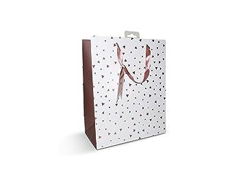 6 bolsas grandes de papel de color oro rosa para regalo de ...