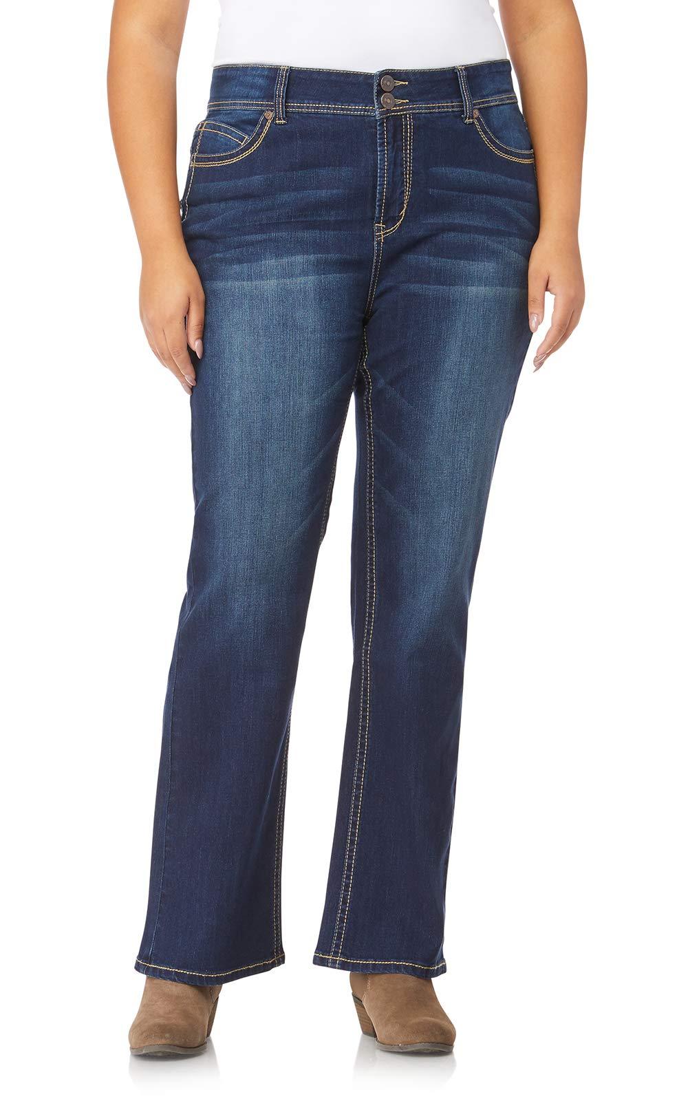 WallFlower Plus Size Luscious Curvy Plus Short Inseam Bootcut Jeans in Scarlett Size: 18 Plus Short by WallFlower