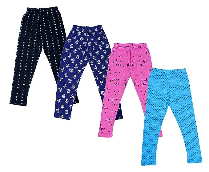 Indistar Girls Super Soft and Stylish Purple Cotton Printed Legging