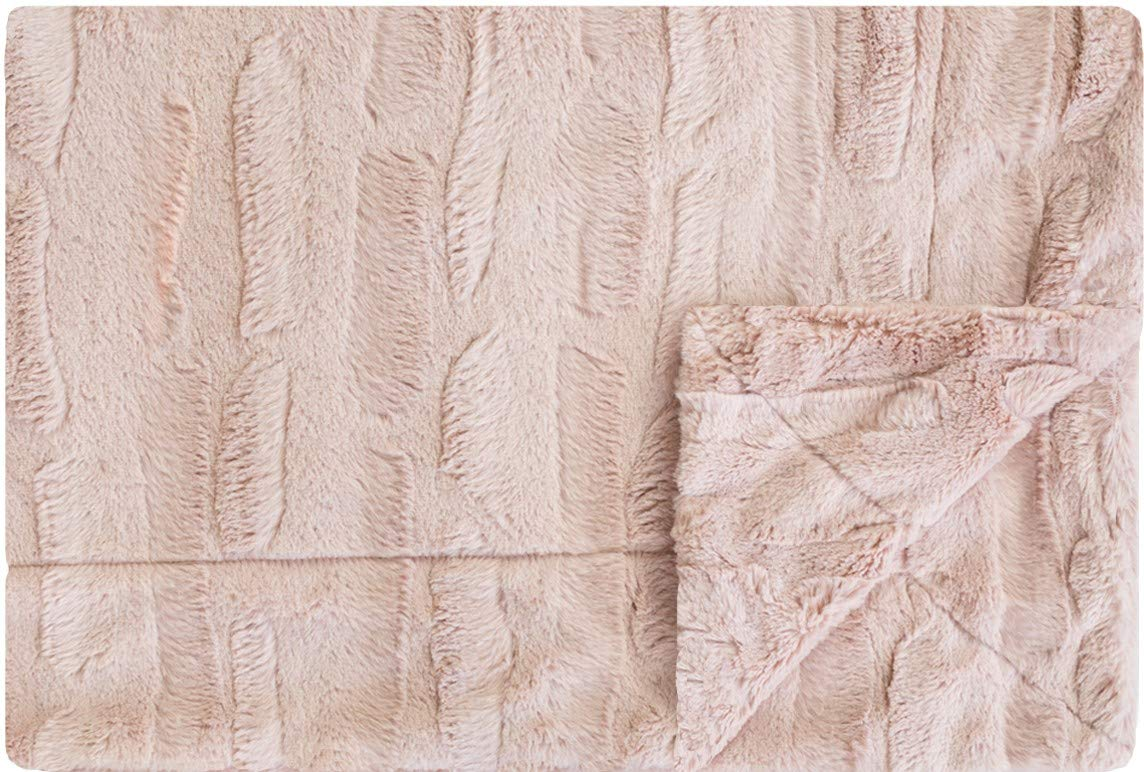 Minky Couture Premium Solid Color Blanket - Soft, Warm, Cozy, Comfortable, (Adult, Sorbet Blush) by Minky Couture