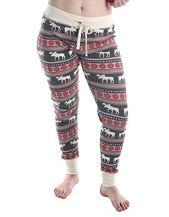 41a3d0a1edae Amazon.com  Moose Fair Isle Women s Legging Womens Pajama Leggings ...