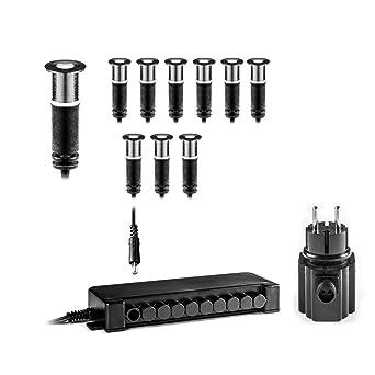 Extrem LED mini Einbau Bodenstrahler 10er Set für innen außen BES-S3 von RX37