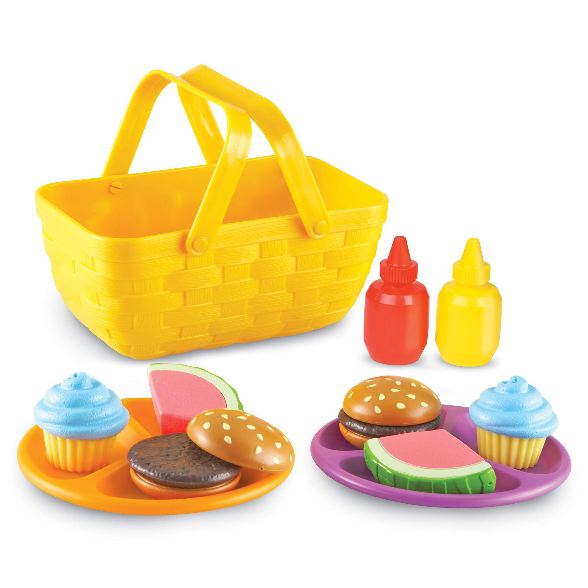 Learning Resources New Sprouts Picnic Set, Pretend, Imaginative Play, Ages 18 Mos+