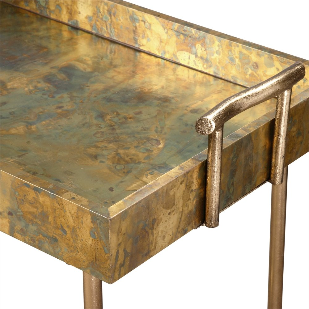 Oxidized Tray Table the Couper Collection serving-carts