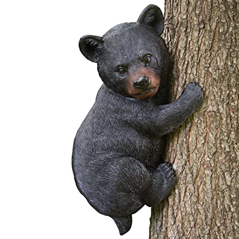 amazon com bits and pieces baby bear up a tree garden peeker