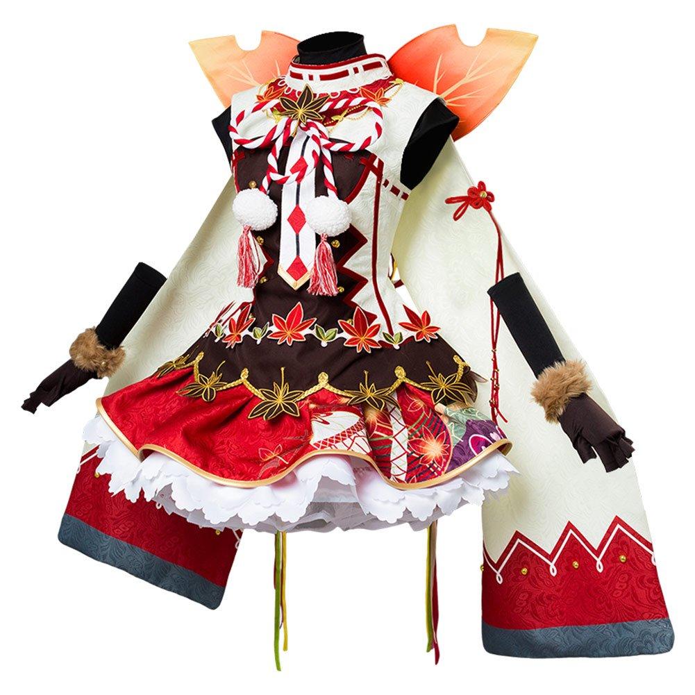 Costhat Love Live!Aqours yoshiko Tsushima Autumn Viewing Cosplay Costume Kimono Dress by Costhat (Image #2)