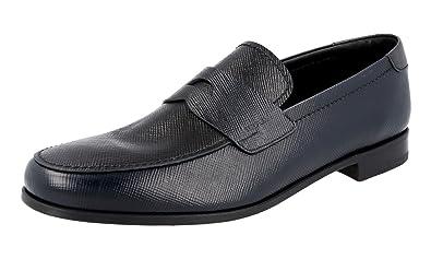 Men's 2DB137 Saffiano Leather Business Shoes