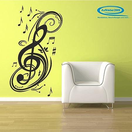 Wall Art Musical Notes / Musical Notation / Musical Score ca. 47 cm ...