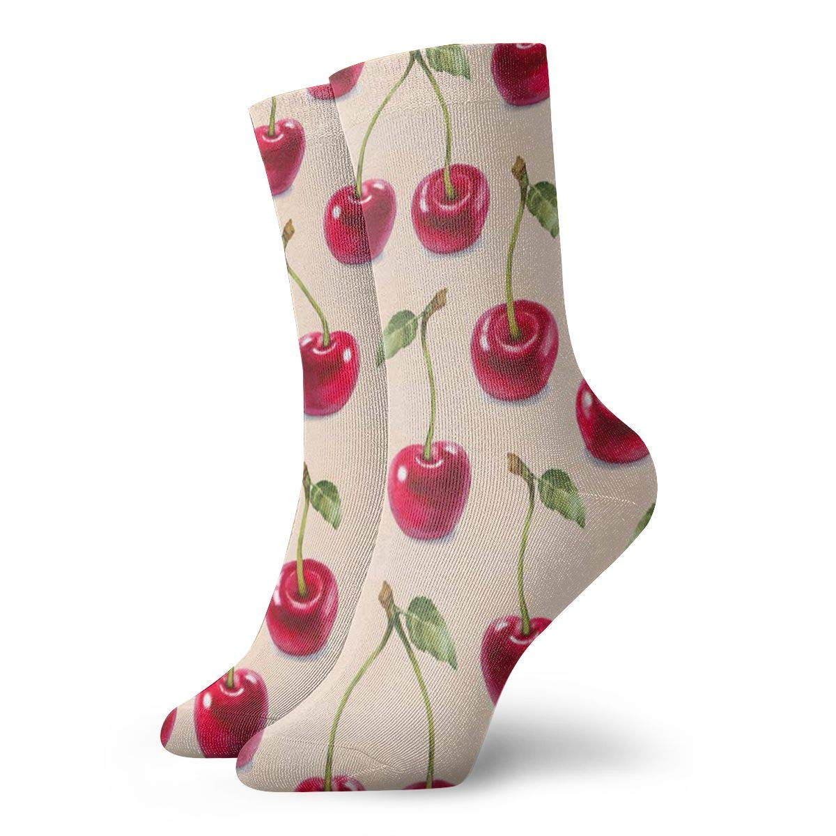 Cherry Unisex Funny Casual Crew Socks Athletic Socks For Boys Girls Kids Teenagers
