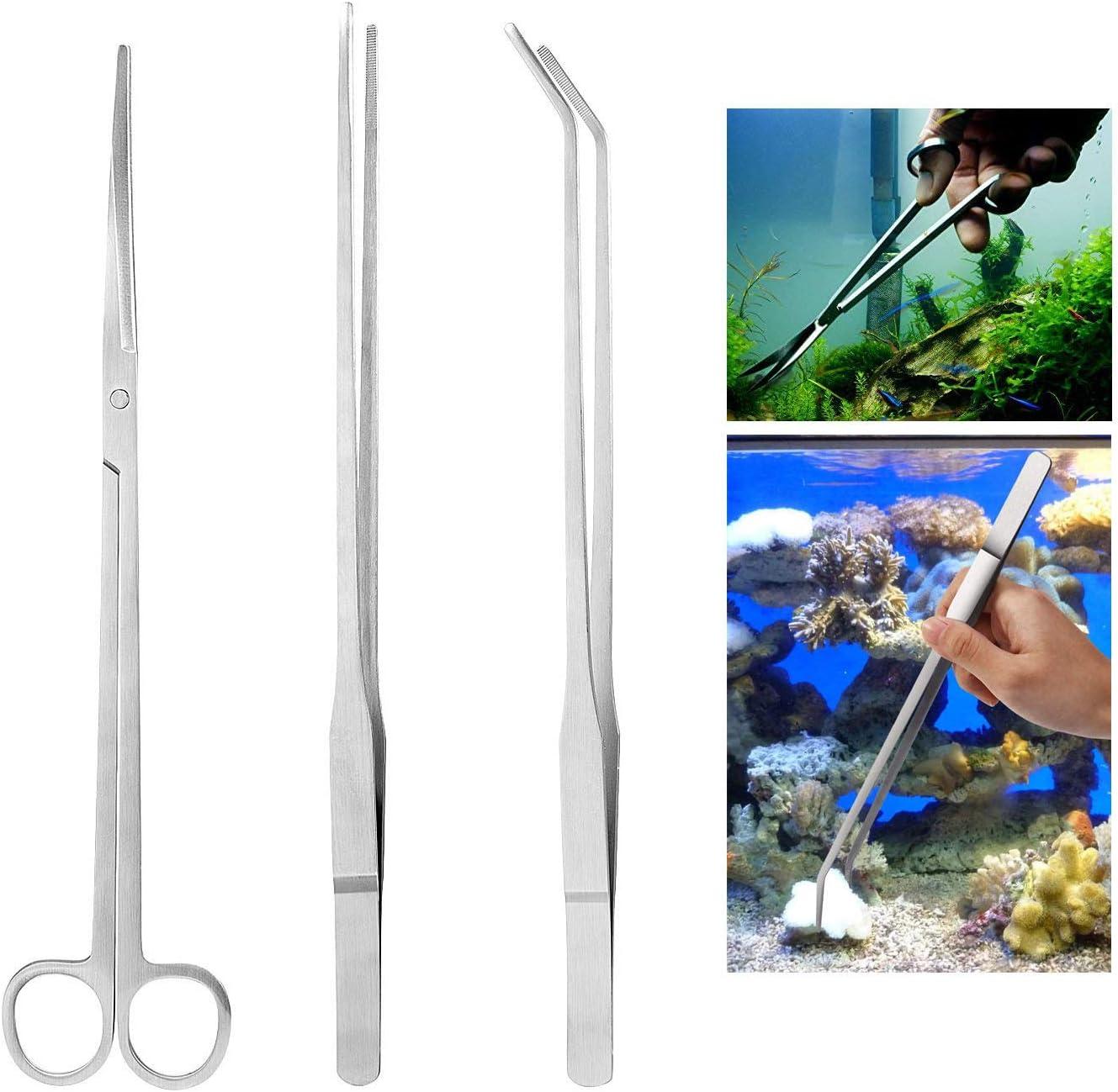 Czemo Aquarium Aquascaping Kit de Acero Inoxidable Acuario Tanque Planta Acuática Herramientas Conjuntos