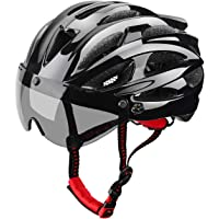 XinerTer Adult Bike Helmet Road bike Helmet + Detachable Magnetic Goggles + cycling face mask Replacement Lining…