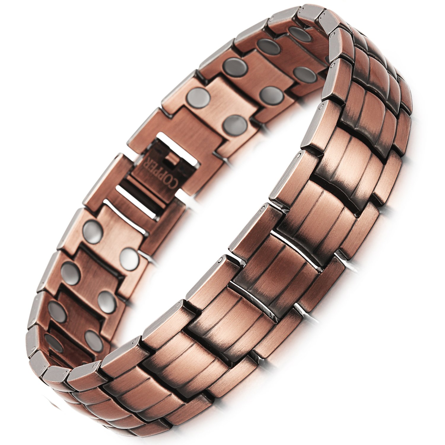 PURE COPPER Magnets Therapy Bracelet Pain Relief for Arthritis and Carpal Tunnel Health Care Elements For Men (A)