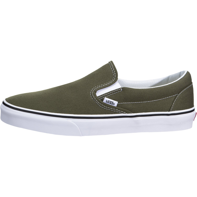 Vans ''Classic Slip-On Sneakers (Winter Moss/True White) Unisex Skate Shoes by Vans (Image #1)