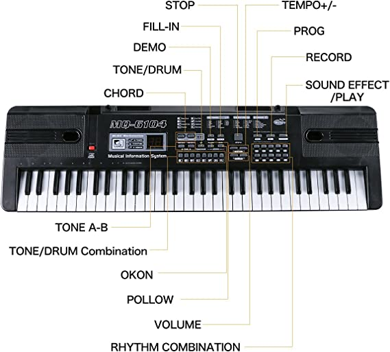 Teclado Piano,Piano Digital 61 Teclas,Teclados Electronicos ...